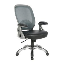 Mid-Back Mesh Leather Executive Office Chair