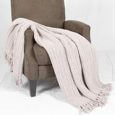 Space Yarn Knitted Throw Blanket