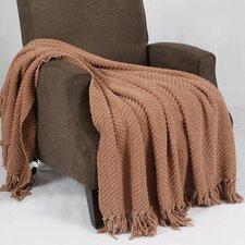 Tweed Knitted Throw Blanket