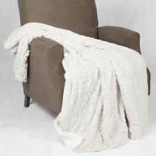 Batik Faux Fur Sherpa Throw Blanket