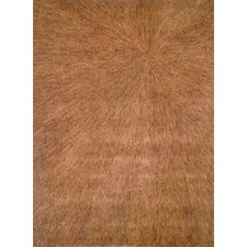 Boardwalk Gold/Brown Sunburst Area Rug