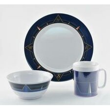 Decorated Compass 18 Piece Dinnerware Gift Set
