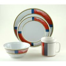 Decorated Life Preserver 24 Piece Dinnerware Gift Set