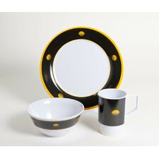 Decorated Commodore 18 Piece Dinnerware Gift Set