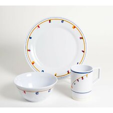 Decorated Flags 18 Piece Dinnerware Gift Set