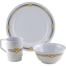 Decorated Rope 12 Piece Dinnerware Gift Set