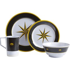 Decorated 16 Piece Dinnerware Gift Set