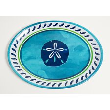 Yacht and Home Sand Dollar Melamine Oval Platter