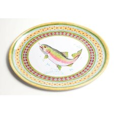 Yacht and Home Trout Melamine Oval Platter
