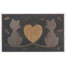 Twin Heart Cat Doormat
