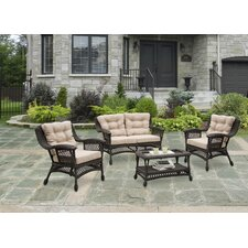Moon 4 Piece Seating Group Set with Cushion