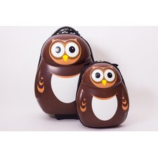 Cuties and Pals 2 Piece Owl Luggage Set