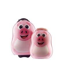 Cuties and Pals 2 Piece Pig Luggage Set
