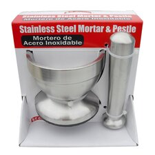 Sleek Stainless Steel Mortar and Pestle