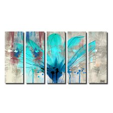 Painted Petals LIl 5 Piece Graphic Art on Wrapped Canvas Set