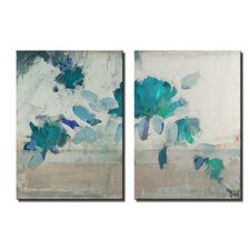 Painted Petals IVB 2 Piece Graphic Art on Wrapped Canvas Set