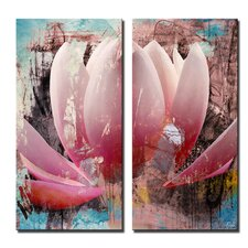'Painted Petals XXIII' 2 Piece Graphic Art on Wrapped Canvas Set