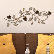 Rose Scroll Wall Décor
