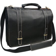 Traditional Leather  Double Slip-in Executive Briefcase