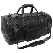 "21"" Leather Travel Duffel"
