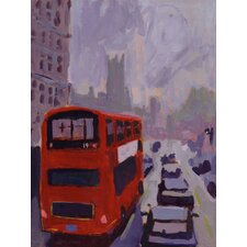 'London' by John Holdway Original Painting on Wrapped Canvas