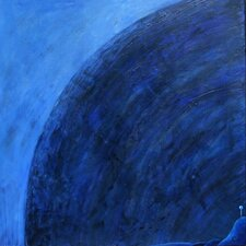'Dark Place' by Charlotte Wensley Original Painting on Wrapped Canvas