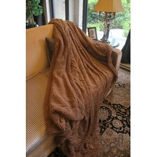 Tache Wooded River Faux Fur/Sherpa Throw Blanket