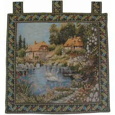 Village Scene Woven Tapestry