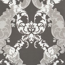 "33' x 20.8"" Damask Wallpaper"