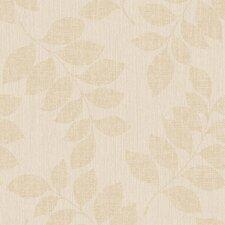"Modern Classic Satin Luxury Leaf Branches 32.97' x 20.8"" Wallpaper"