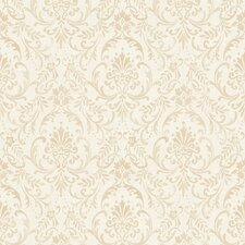 "Damask Traditional Floral Ornamental Antique 32.97' x 20.8"" Wallpaper"