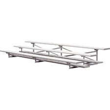 3 Row Aluminum Bleachers Bench