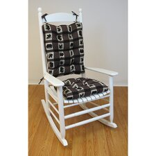Lodge Animal Plaid Gripper Jumbo Rocking Chair Cushion