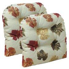 Falling Leaves Gripper Chair Cushion (Set of 2)