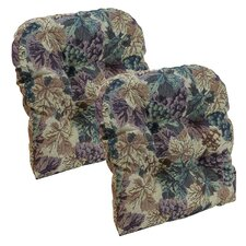 Cabernet Tapestry Gripper Chair Cushion (Set of 2)