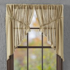 """Tobacco Swag 36"""" Curtain Valance (Set of 2)"""