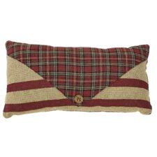 Tartan Holiday 2 Piece Santa's Mail Lumbar Pillow Set