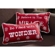 Winter Wonderment 2 Piece Cotton Throw Pillow Set