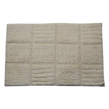 Castle 100% Cotton Chakkar Board Spray Latex Back Bath Rug