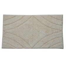 Castle 100% Cotton Diamond Spray Latex Back Bath Rug