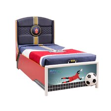 Soccer Twin Storage Bed with Mattress