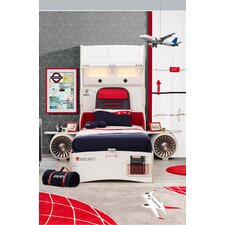 First Class Airplane Extra Twin Upholstered Customizable Bedroom Set