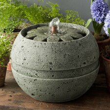 Garden Terrace Cast Stone Rosette Fountain