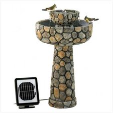 Polyresin Wishing Well Solar Fountain