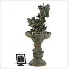 Polyresin, Stone Powder and Sand Fairy Solar Fountain