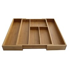 Bamboo Expandable Drawer Organizer