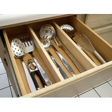 Natural Wood Kitchen Drawer Divider (Set of 2)