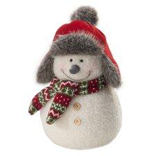 "11.5"" Pudgy Snowman Plush Figurine"