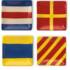 "5"" Nautical Flag Plate (Set of 4)"