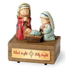 Adorable Nativity Music Box